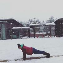Planking at Mt Fuji